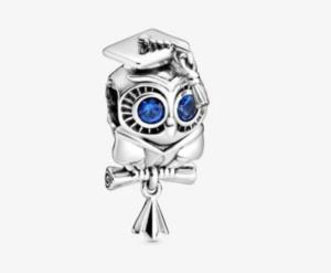 Graduation gift owl charm from pandora